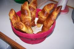 petit déjeuner, hôtel, croissants